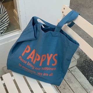 Leftsac - Lettering Canvas Tote Bag