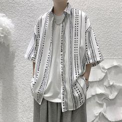 POSI - Elbow-Sleeve Patterned Shirt