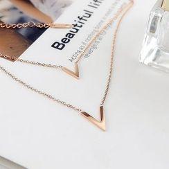 Donnette - V-Shape Layered Necklace