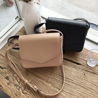 Barba(バルバ) - Faux Leather Front Flap Crossbody Bag