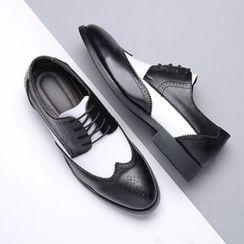 Taragan - Two-Tone Lace-Up Brogue Shoes