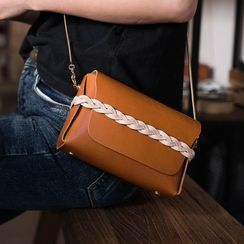 Carpaccio - Genuine Leather Flap Crossbody Bag