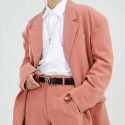 FAERIS - 纯色西装外套 / 宽腿裤