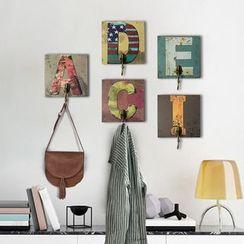 Kimkom - 印花木製字母牆鉤
