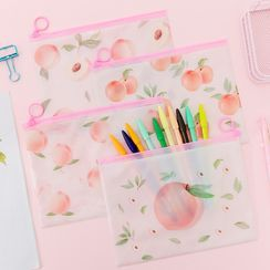 Hera's Place - Peach Print Zip Pouch
