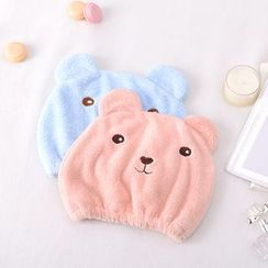 Home Simply - Terry Cloth Bear Hair Cap