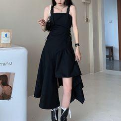 Robynn - 细肩带不规则A字连衣裙