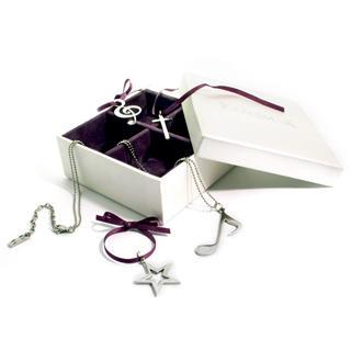 Kamsmak - Santa's Fantasy Box Pendant Set (Cross, Star, Quaver & Treble Cleft)