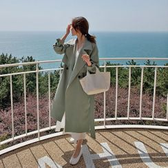 HOTPING - Classic Trench Coat with Sash
