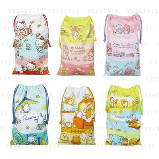 Sanrio - Small Printed Drawstring Bag - 7 Types