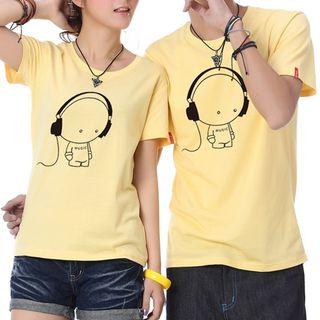 Free Shop - T-shirt imprimé à manches courtes