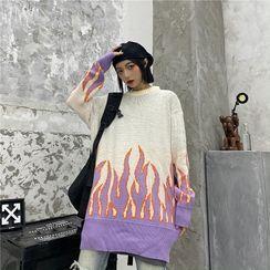 2DAWGS - Flame Jacquard Sweater