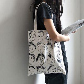 Basaran - Printed Canvas Tote Bag