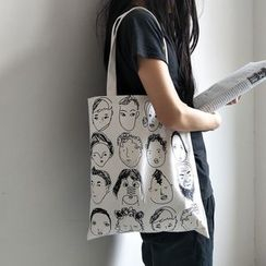 Basaran - Printed Canvas Tote Bag