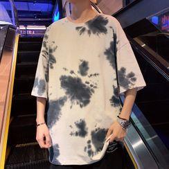 KOKAY(コケイ) - Dye Print Elbow-Sleeve T-Shirt