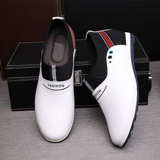 Kayne H - Faux Leather Paneled Slip On Shoes