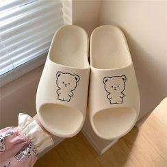 ZORI - Bear Print Slippers