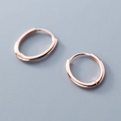 A'ROCH - Polished 925 Sterling Silver Hoop Earring