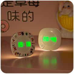 Momoi - Adhesive Night Lamp with Digital Clock