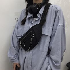 Koiyua - Chain Zip Sling Bag
