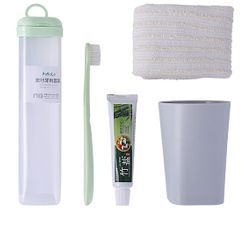 Home Flora - Set: Travel Toothbrush + Toothpaste + Case