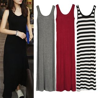 BOSAI - Plain Midi Tank Dress