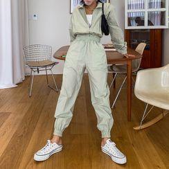 LIPHOP - Patch-Pocket Baggy-Fit Jogger Pants