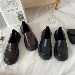 Futari - Platform Penny Loafers