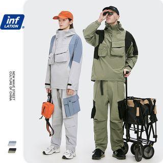 Newin - 男女款机能拼接立体口袋连帽外套 / 工装直筒裤