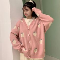 Duwnie - Oversized Peach Cardigan