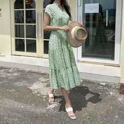 CANMART - Tiered Long Floral Dress