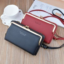 Hydrus - Multi-Section Long Wallet with Shoulder Strap