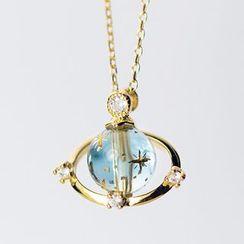 A'ROCH - 925純銀仿水晶星球吊墜項鏈
