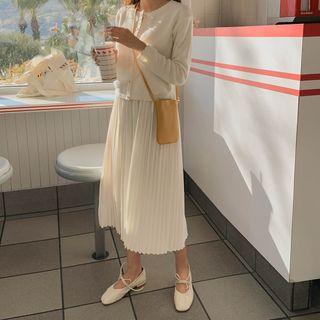 CHERRYKOKO - Accordion-Pleat Long Slip Dress