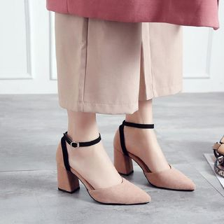 Gimme - Block-Heel Strapped Pumps