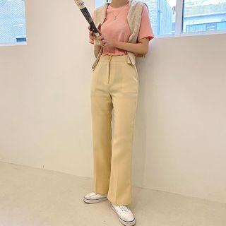 icecream12 - Semi Boot-Cut Dress Pants