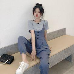 ANORA - 短袖純色T裇 + 連衣褲