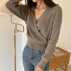 Envy Look - V-Neck Rib-Knit Top