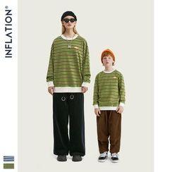 Newin - 细条纹宽松长袖T恤