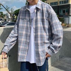 YERGO(ヤーゴ) - Long-Sleeve Plaid Shirt