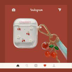 kloudkase - Cherry Print AirPods / Pro Earphone Case Cover