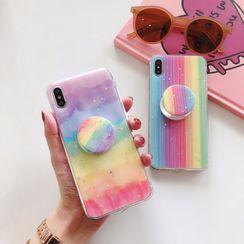 Edgin - Rainbow Stand Phone Case - iPhone 6 / 6 Plus / 7 / 7 Plus / 8 / 8 Plus / X / XR / XS / XS MAX