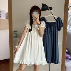 Rorah - Puff-Sleeve Mini Nightgown