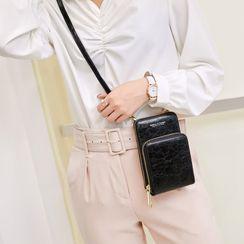BAUQBAU - Faux Leather Mobile Crossbody Bag