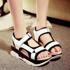 Freesia - Two Tone Platform Sandals