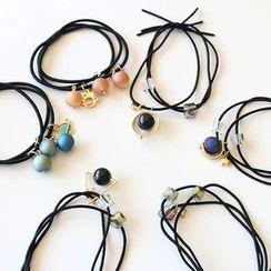 SUGAR STUDIO  - Bead / Cubic Rhinestone Hair Tie (various designs)