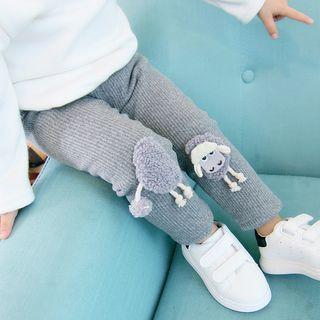 Mini Bae - Kids Fleece-Lined Cartoon Pants