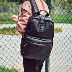 SUNMAN - Faux Leather Backpack