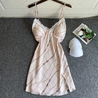 heartlyre - 印花絲質睡裙