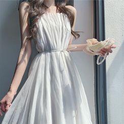 Apotheosis - Spaghetti Strap Midi A-Line Dress